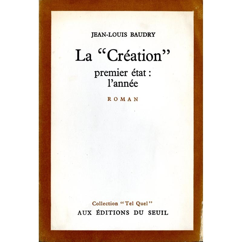couverture de Jean-Louis Baudry, La Création