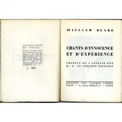 page de titre William Blake, Chants d'innocence et d'expérience