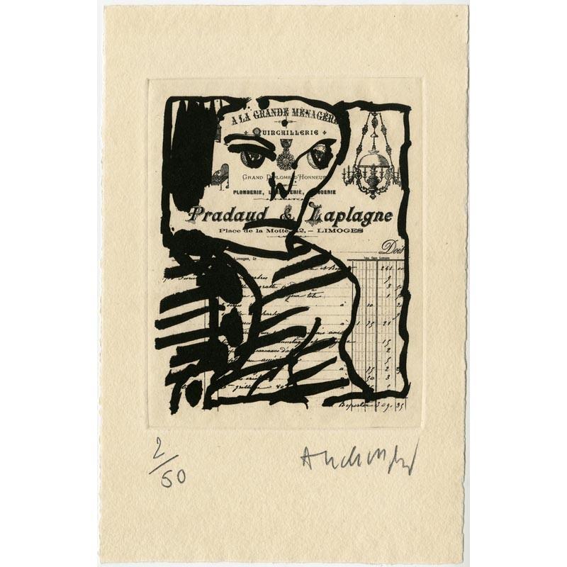 « À la grande ménagère », eau-forte signée et numérotée par Pierre Alechinsky