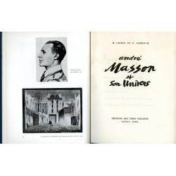 """page de titre de """"André Masson et son univers"""""""