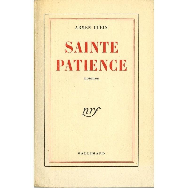 couverture Armen Lubin, Sainte Patience
