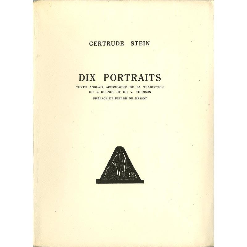 couverture Gertrude Stein, Dix Portraits