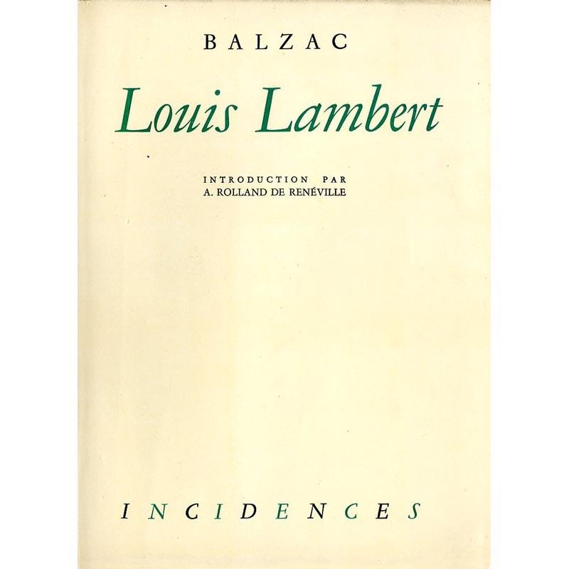 couverture Honoré de Balzac, Louis Lambert