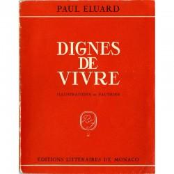 couverture Paul Éluard, Dignes de Vivre