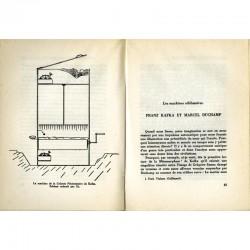 """Double page du chapitre """"Kafka et Duchamp"""" dans """"Les machines célibataires"""" de Michel Carrouges"""