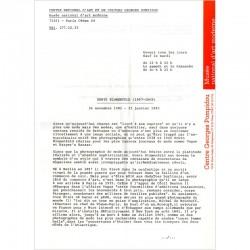 communiqué de presse exposition Blumenfeld Centre Pompidou