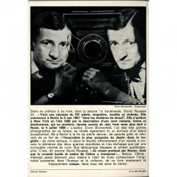 4e de couverture de l'autobiographie d'Erwin Blumenfeld, Jadis et Daguerre