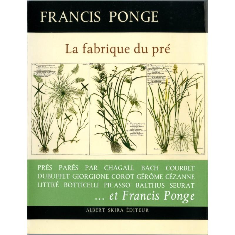 """Couverture et bandeau de """"La fabrique du Pré"""" de Francis Ponge"""