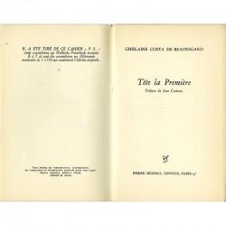 """Page de titre du livre """"Tête la première"""" de Ghislaine Costa de Beauregard"""