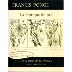 """Couverture de """"La fabrique du Pré"""" de Francis Ponge"""
