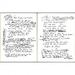 """Page manuscrite reproduite dans """"La fabrique du Pré"""" de Francis Ponge"""
