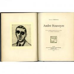 """Colophon avec portrait de Matisse du livre """"André Rouveyre"""" par Louis Thomas"""