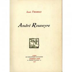 """Page de titre du livre """"André Rouveyre"""" par Louis Thomas"""