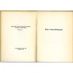 """Tirage limité de """"L'épouse infidèle"""", poèmes, de Gilbert Lely, 1966"""