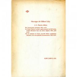 """4e de couverture de """"L'épouse infidèle"""", poèmes, de Gilbert Lely, 1966"""