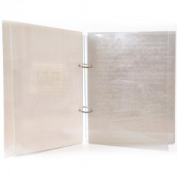 Page gravée dans le Plexiglas®, Lourdes Castro « Cahier de Conversation n°6 »