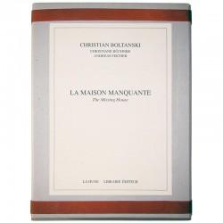 """couverture du livre d'artiste de Christian Boltanski """"La maison manquante"""""""