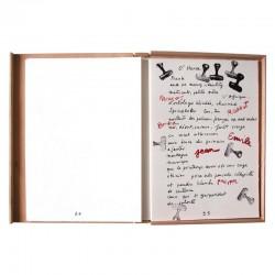 """Une des lithographies du livre d'artiste d'Arman """"Afrikan matricule"""""""