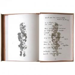 """Lithographie d'Arman et poème de Joseph Guglielmi, dans """"Afrikan matricule"""""""