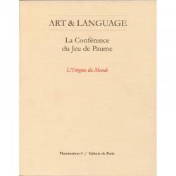 """La couverture du livre """"La conférence du jeu de Paume"""" d'Art & Language"""