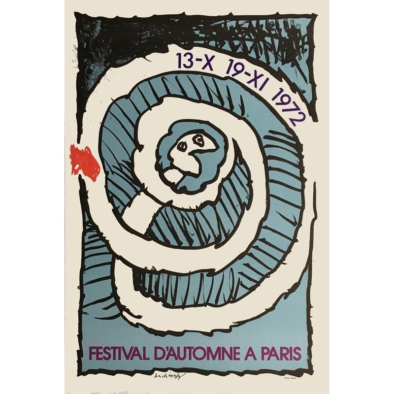 Affiche Pierre Alechinsky Festival d'automne