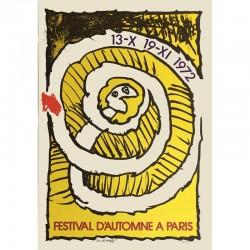 Affiche Pierre Alechinsky Festival d'automne (jaune)