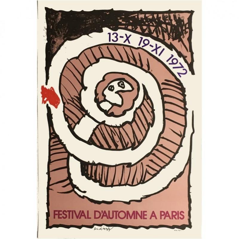 Affiche Pierre Alechinsky Festival d'automne (rose)
