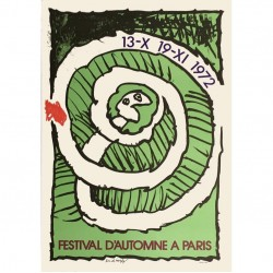 Affiche Pierre Alechinsky Festival d'automne (verte)