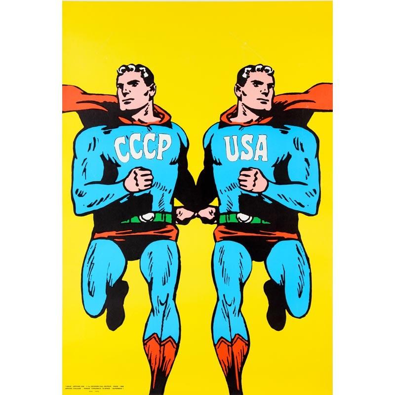 "Roman Cieslewicz, affiche ""CCCP-USA"", (Superman), 1968"