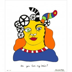 "L'affiche de Niki de Saint Phalle ""Do you like my brain?"""