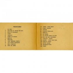 """verso du carton d'invitation pour l'exposition Max Ernst, galerie """"Artiste et Artisan"""" de Simone Collinet"""