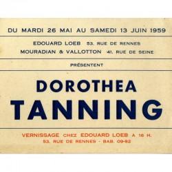 recto du carton d'invitation pour l'exposition Dorothea Tanning, galerie Édouard Loeb