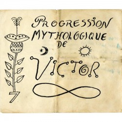 Progression mythologique - carton d'invitation dépliant de l'exposition Victor Brauner, galerie René Drouin