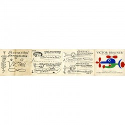 recto du carton d'invitation dépliant de l'exposition Victor Brauner, galerie René Drouin