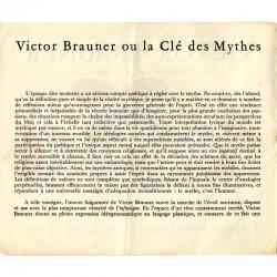 texte du carton d'invitation dépliant de l'exposition Victor Brauner, galerie René Drouin