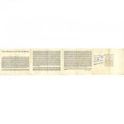 verso du carton d'invitation dépliant de l'exposition Victor Brauner, galerie René Drouin