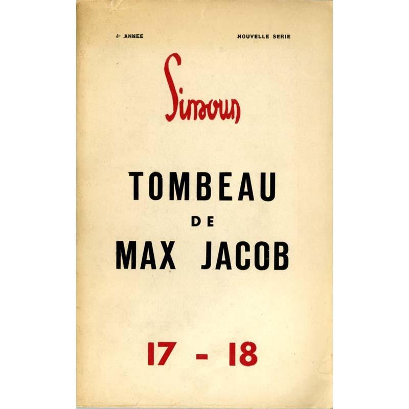 """Couverture du numéro spécial de la revue """"Simoun"""" consacré à Max jacob"""
