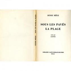 """La couverture de """"Sous les pavés la plage"""" de Denise Miège, lithographie de Paul Armand Gette"""