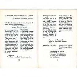 """Une des double pages de """"Sous les pavés la plage"""" de Denise Miège, orné par Paul Armand Gette"""