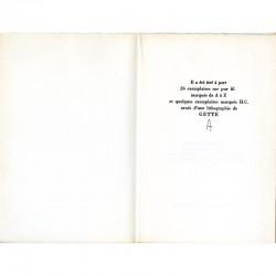 """Colophon de Denise Miège, Paul Armand Gette """"Sous les pavés la plage"""""""