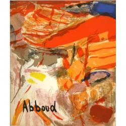catalogue de l'exposition Chafik Abboud  à la galerie Raymonde Cazenave, 1961