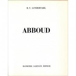 page de titre du catalogue de Chafik Abboud  à la galerie Raymonde Cazenave