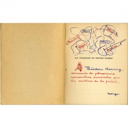 belle dédicace et dessin de Norge à Théodore Kœnig du livre de Max Elskamp