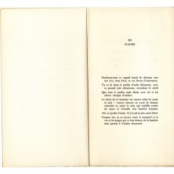 intérieur du livre de Gustave Roud, Trois poèmes anciens, édité par Fata Morgana