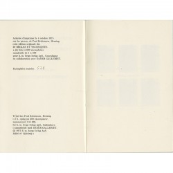 """colophon de """"20 règles et techniques utilisées en 1972 par un enfant de 9 ans"""" de Christian Boltanski"""