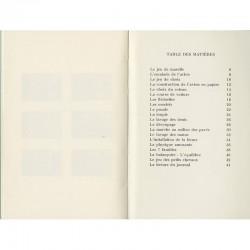 """table des matières du livre de Christian Boltanski """"20 règles et techniques..."""""""
