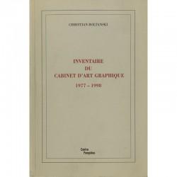 """Couverture du livre de Christian Boltanski """"Inventaire du cabinet d'art graphique 1977-1998"""""""