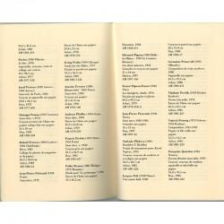 """Une double page du livre de Christian Boltanski """"Inventaire du cabinet d'art graphique 1977-1998"""""""