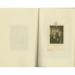 """Une double page du livre de Christian Boltanski """"Géo Harly"""""""