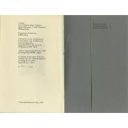 """Colophon de """"Géo Harly danseur parodiste"""" de Christian Boltanski"""